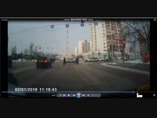 момент ДТП Заки Валиди 01.02.19