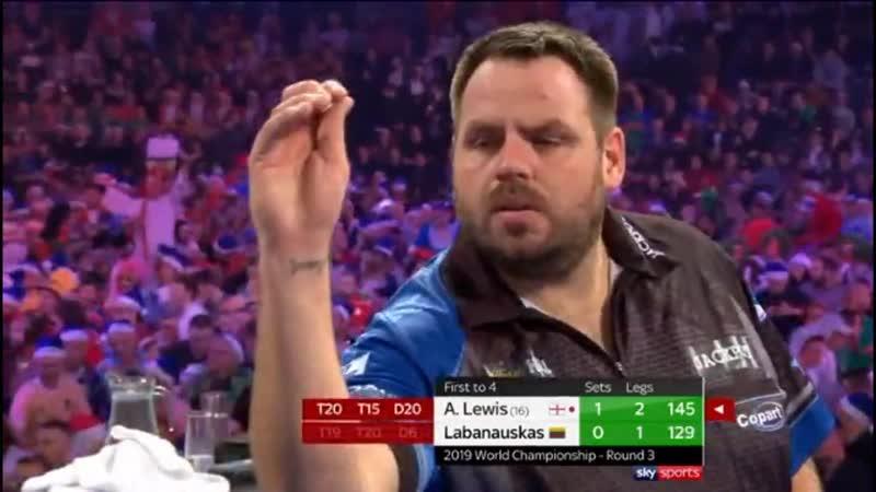 2019 World Darts Championship Round 3 A.Lewis vs Labanauskas