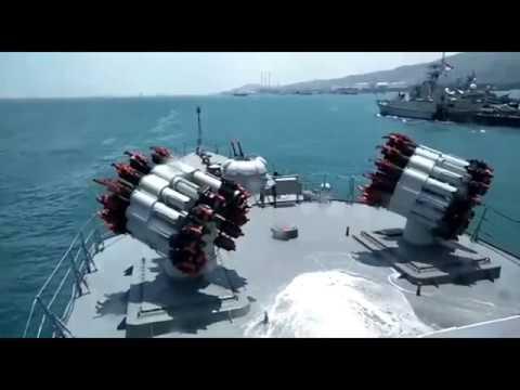 Reload dan Penembakan Peluncur Roket Anti Kapal Selam RBU 6000