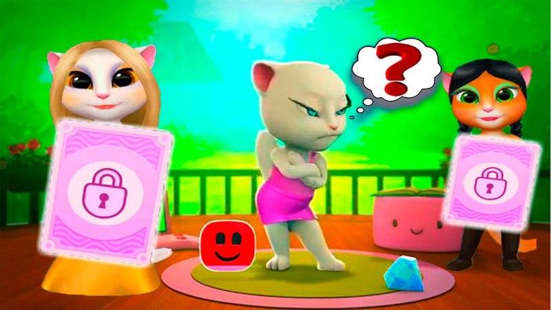 Моя Говорящая Анджела 9 Новое вечернее платье Мультик для детей про кошечку Talking Angela