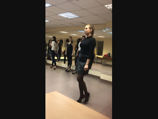 Репетиция в модельной школе
