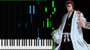BLEACH - Treachery (Sagisu Shirou) Synthesia Piano Tutorial by Iwan Hoffman (100% 2018)