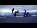Motorcycle stunts - Martin &amp Katya 2015 Стантрайдинг VK