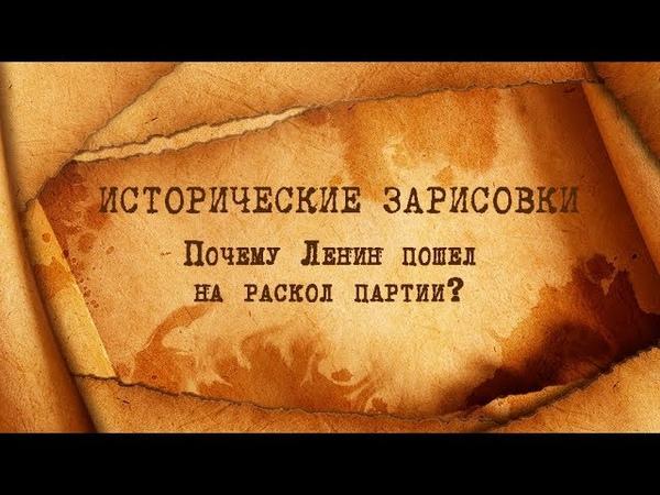Е.Ю.Спицын и П.Ю.Савельев Почему Ленин пошел на раскол партии?