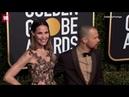 Sam Rockwell and Leslie Bibb at the 2019 Golden Globe Awards