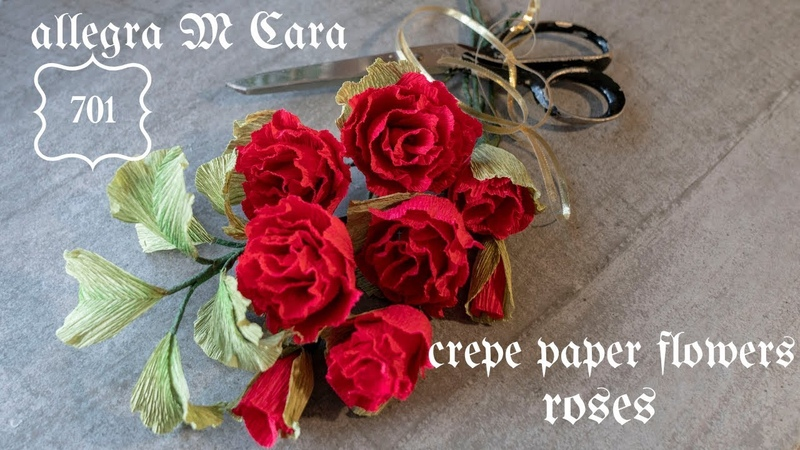 701 PRO Paper Crafts Flowers Tutorial / DIY Paper Red Roses