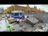 RT установил выездную студию на Красной площади для освещения выборов