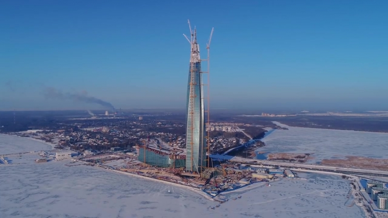 Аэросъёмка Лахта центр