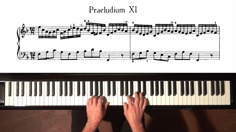 Bach Prelude and Fugue No.11 No.Well Tempered Clavier, Book 1 with Harmonic Pedal