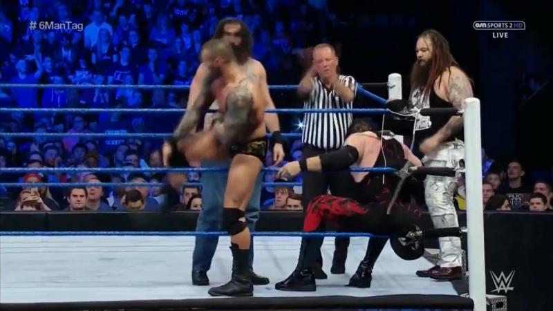 Ambrose, Ellsworth Kane vs. Orton The Wyatt Family SmackDown 2016