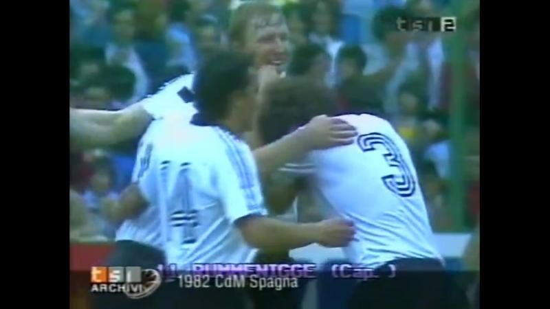 ЧМ-1982. Карл-Хайнц Руммениге (ФРГ) - гол Чили
