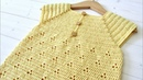 How to crochet a baby / girl's pretty summer dress - the Daisy dress
