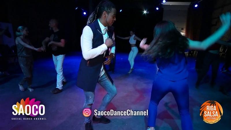 Gabriel Galan Peralta and Anastasia Masalova Salsa Dancing at Riga Salsa Festival 2018, Sat 11.08.18