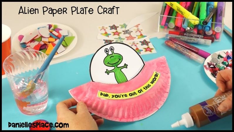 You're Out of this World Paper Plate Alien Craft