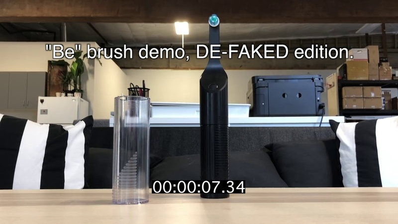 How the Be battery free toothbrush faked a demonstration video