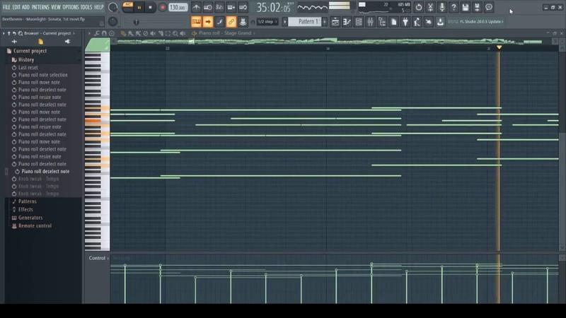 Beethoven Moonlight- Sonata, 1st movt [Piano] (FL Studio 20 )