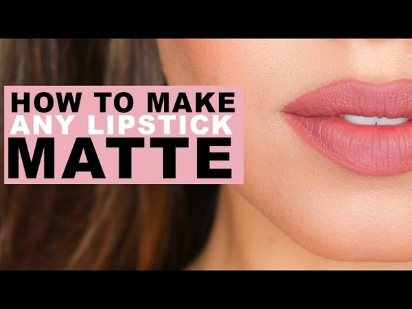 How to make ANY lipstick MATTE EmanMakeup