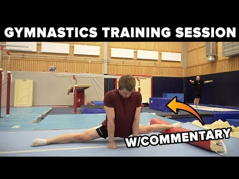 Gymnastics Training Session!! w Commentary