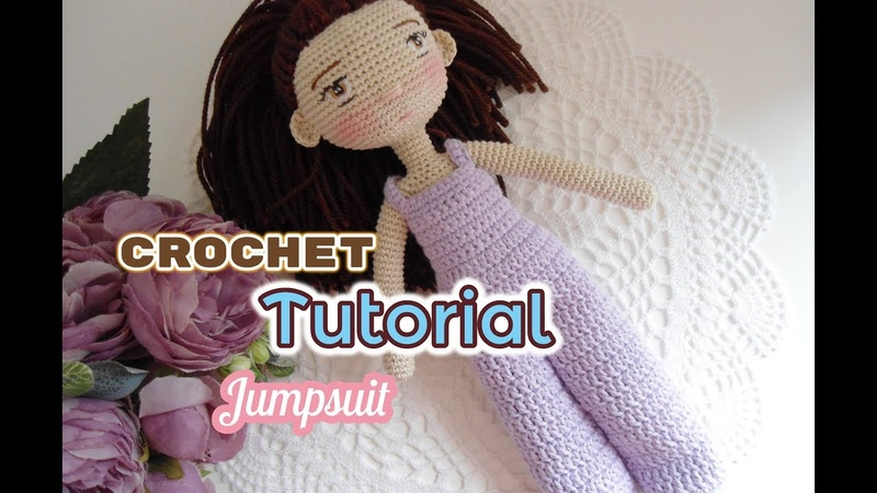 How to crochet doll jump suit Blythe doll clothes