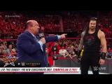 WWE RAW Paul Heyman tries to win over Roman Reigns