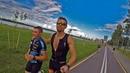 Триатлон Half Ironman в Минске финиш