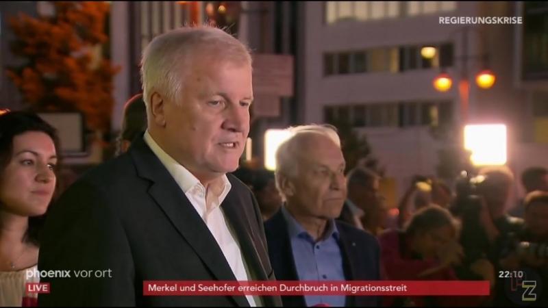 Paukenschlag - CDU und CSU haben sich geeinigt - Erklärung von Seehofer- er bleibt -02-07-2018-
