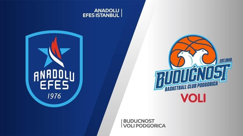Anadolu Efes Istanbul - Buducnost VOLI Podgorica Highlights | EuroLeague RS Round 13