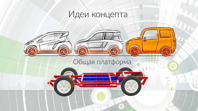 Российский Электромобиль Зетта с мотор-колесом Дуюнова