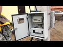 Сборка щита учета электроэнергии 15КВт 380В. Установка электрического счетчика на столб