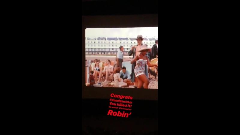 Личное видео из инстаграм-истории Кортни (10/08/18)