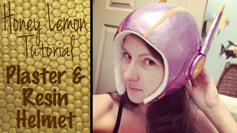 Honey Lemon Cosplay Tutorial Plaster Resin Helmet