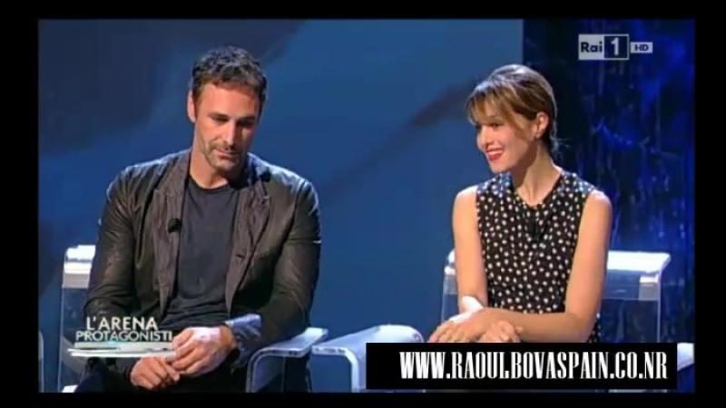 Raoul Bova and Paola Cortellesi in the program LArena- 2014