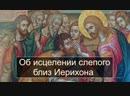 Об исцелении слепого близ Иерихона. Воскресная проповедь