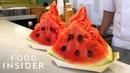 Soft Serve Ice Cream In A Watermelon Slice