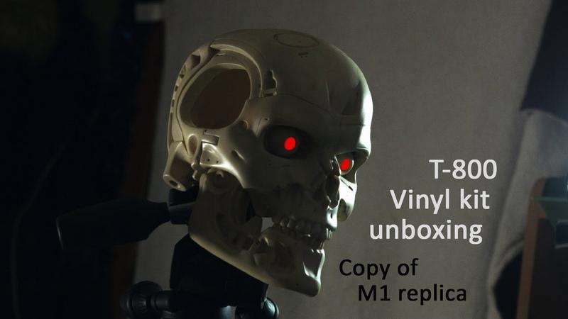 T800 Endoskull. Copy of M1 replica vinyl kit. Unboxing