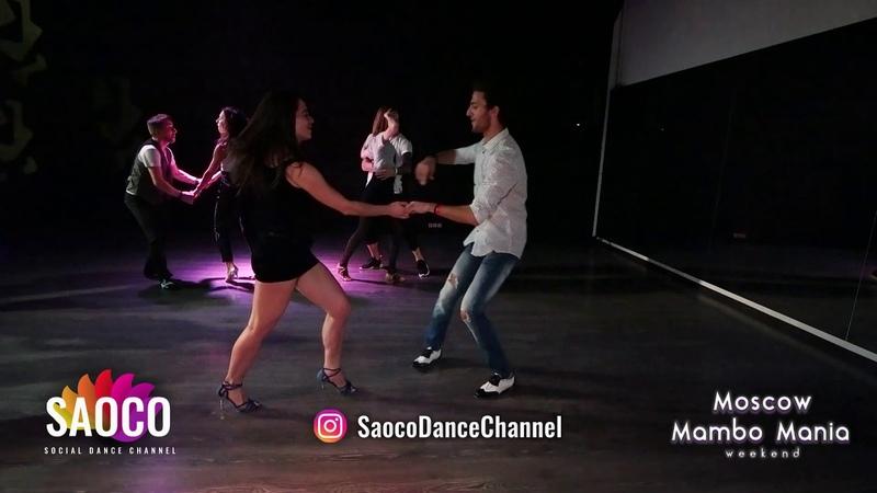Sergey Gazaryan and Olesya Petrova Salsa Dancing at Moscow MamboMania weekend, Friday 26.10.2018