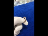Обручальное кольцо из красного и белого золота с бриллиантами 14-9026-17-02