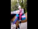 Маня на лошадке
