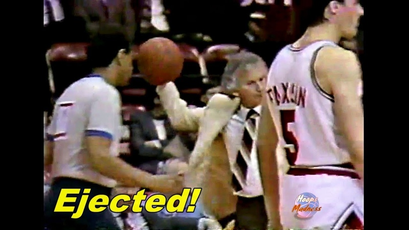 Michael Jordan Fouled Out Stan Albeck Gets Ejected in Game 3 1986 Playoffs
