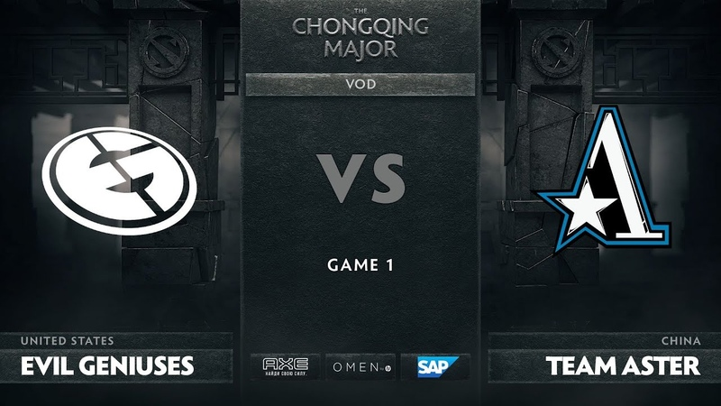 Evil Geniuses vs Team Aster - Game 1, Group D - The Chongqing Major 2019