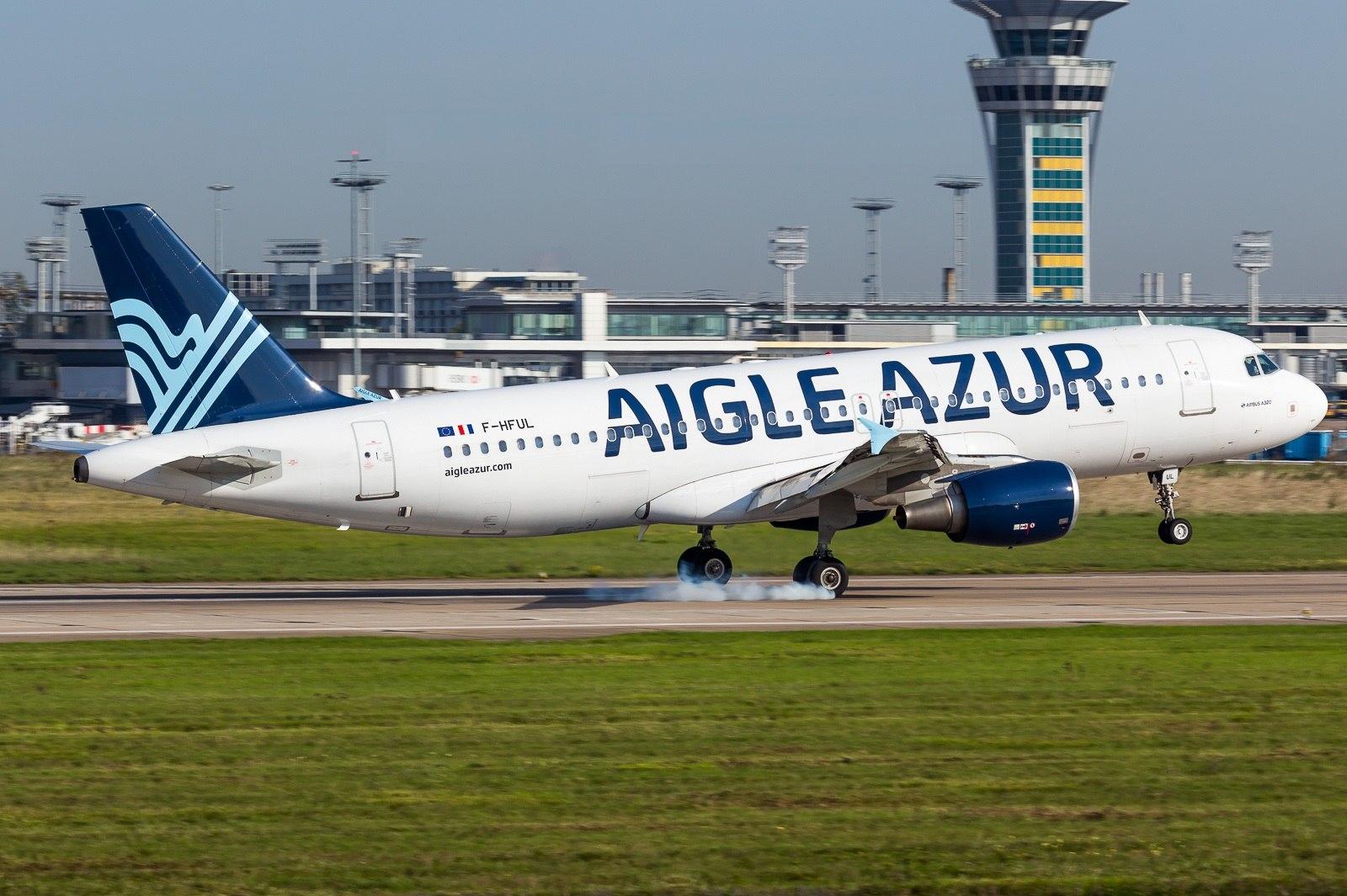 Посадка Airbus A320 Aigle Azur