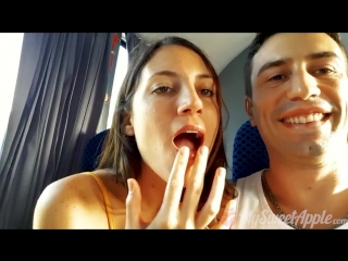 Cute teen sucks me on a bus - mysweetapple