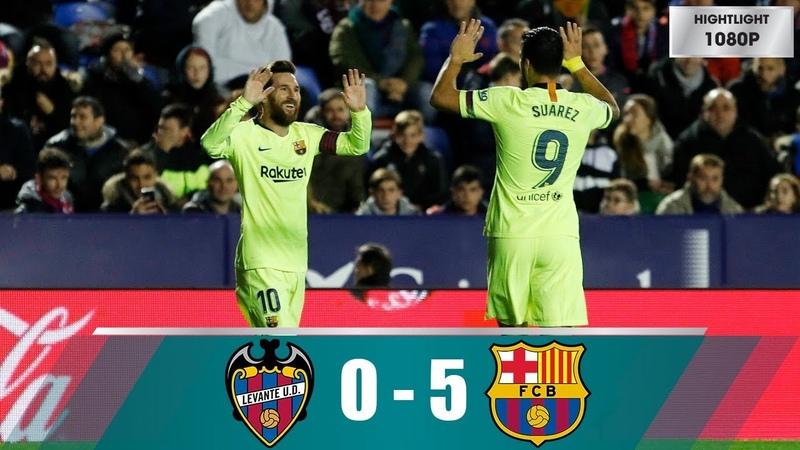 Levante vs Barcelona 0-5 Highlights All Goals (16/12/2018)
