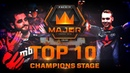 TOP 10 Plays of Champions Stage feat. s1mple, Twistzz, Fallen! FACEIT Major London 2018