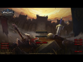 Battle for Azeroth Login Screen.