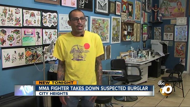MMA fighter takes down suspected burglar