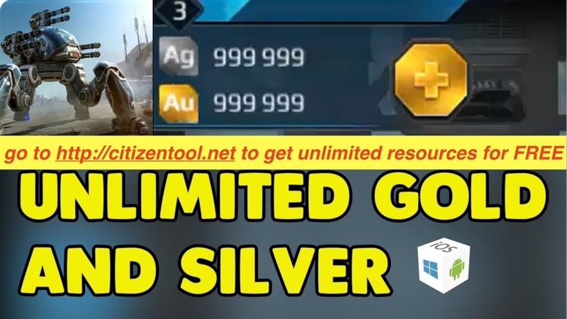WAR ROBOTS HACK/CHEAT FREE GOLD SILVER [ANTIBAN]