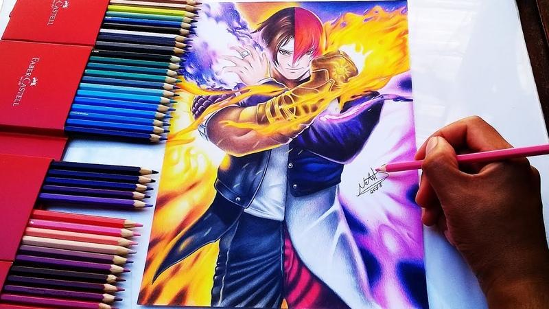 SPEED DRAWING KYO KUSANAGI / IORI YAGAMI [ King of Fighters ] COLLAB