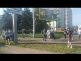 Врезался в столб. Авария на ул. Голубева в Минске