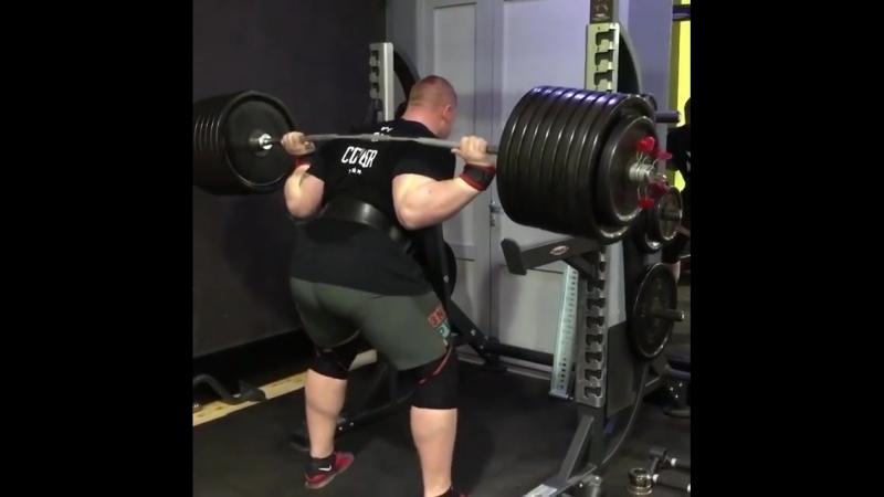 Павел Наконечный - наклоны 350 кг